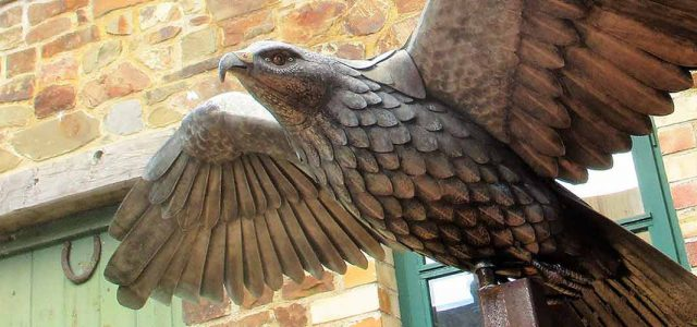 Steel Bird Sculpture Buzzard Devon