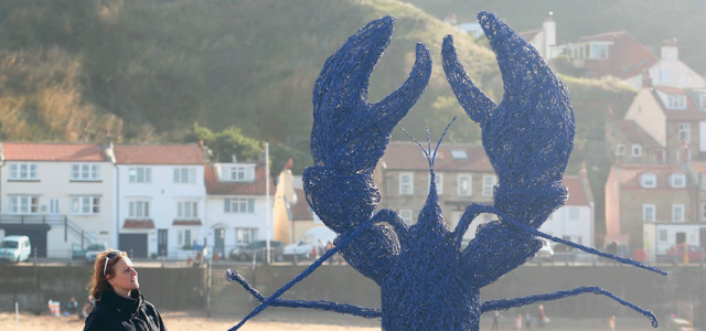 Coronation Lobster - Emma Stothard Sculpture North Yorkshire