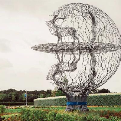 Crowned Stag / Deer Sphere - Sanderson Sculpture