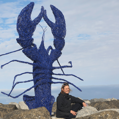 Coronation Lobster - Emma Stothard Sculpture
