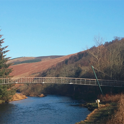 Footbridge over River Tweed - Addison Conservation and Design