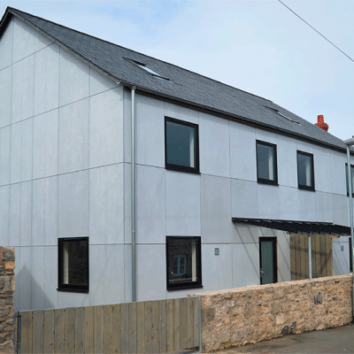 New houses, 5 & 7 Middle Lane - Christopher Sanders Architects
