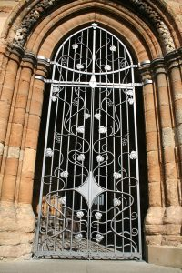 South Porch Gates, St Michael's Church, Linlithgow - P Johnson