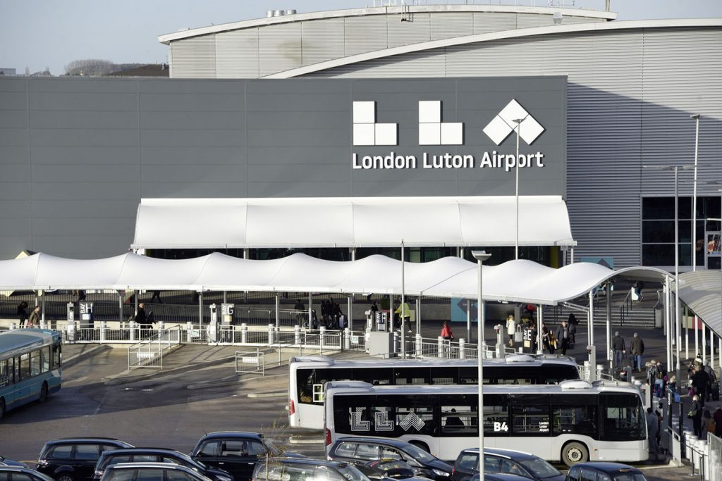 London Luton Airport entrance canopies